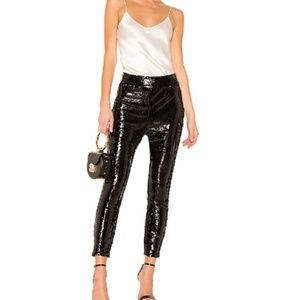 f22c1fadae5d6 Frame high waist sequin leggings pants ankle zip